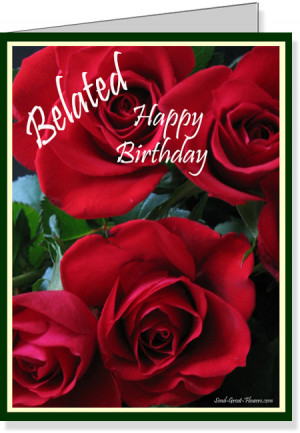 Red roses birt...