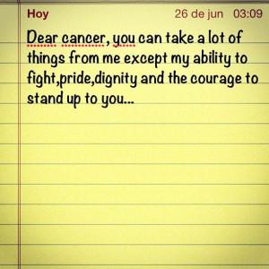 Dear cancer