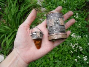 Anam Cara : Reliquary box and necklace