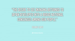 The desire to see Okinawa returned to Japan developed into a broad ...