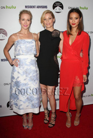 Elizabeth Banks, Anna Camp, & Jamie Chung Flash Serious Skin At The ...