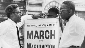 In front of 170 W 130 St., March on Washington, Bayard Rustin, Deputy ...