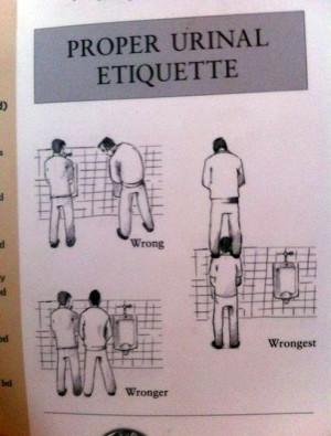 Proper Urinal Etiquette