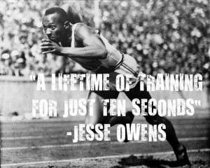 Jesse Owens. Won four gold medals at the 1936 Summer Olympics. #quotes ...