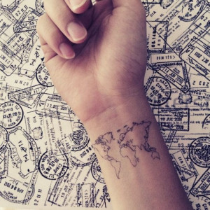 Via 2pcs World Map Love Travel ...