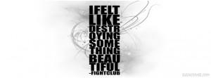 felt like destroying something beautiful