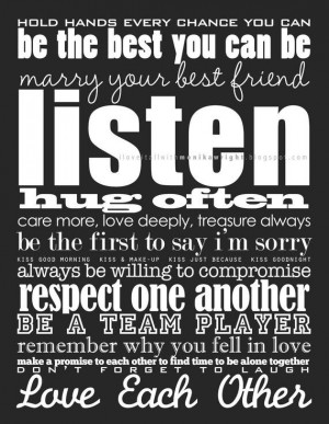 Marriage Quote Wall Art . Rules for a Happy Marriage Sign . Rules of ...