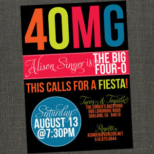 3OMG - 30th 40th or 50th Birthday Party Invitation - Printable or ...