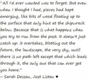 Sarah Dessen, Just Listen