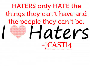 My haters read this