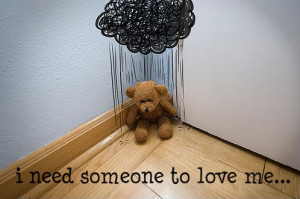 Sad teddy bear :( Image