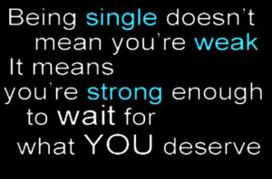 Being Single Quotes Image - Simple Quotes Image