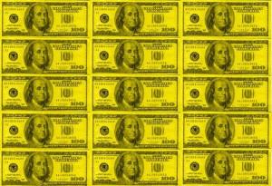 Yellow Money Background Image