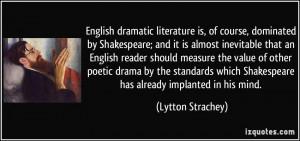 English Dramatic Literature...