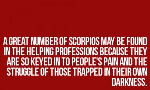 Scorpio...so true! Everyone in my massage therapy program is a scorpio ...