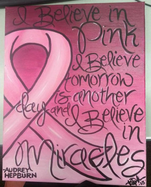 Audrey Hepburn Cancer Awareness Quote Painting