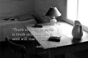 Jefferson Davis Prison Cell - Jefferson Davis Quote