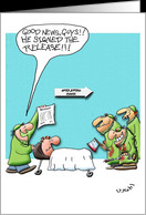 Get Well From Surgery, Signed Release Cartoon card - Product #812249
