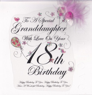 ... embellishments granddaughter 18th birthday card large luxury birthday