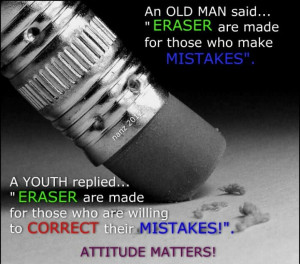 Erasers Correct Mistakes...
