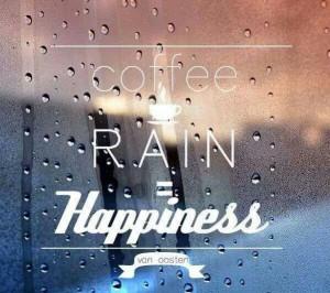 coffee and rain = Happiness! :)