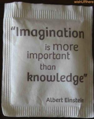Einstein's imagination quote - partial