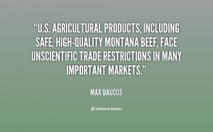 agricultural products, including safe, high-quality Montana beef ...