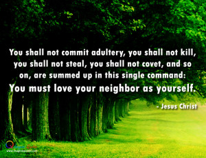 Nature wallpaper, Life quote by Jesus Christ with Nature