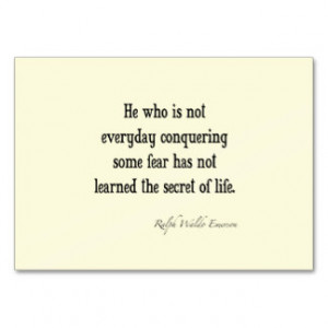... Emerson Inspirational Secret of Life Quote Business Card Template