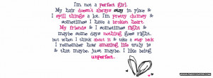 Im Not A Perfect Girl Cover Comments