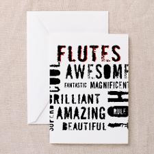 Unique Marching band flute Greeting Cards (Pk of 10)