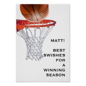 Basketball Sayings Posters & Prints