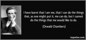 More Oswald Chambers Quotes