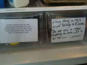 Shelley Jones Beane This is what you need to do in the fridge at work ...