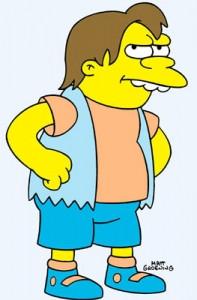 Nelson Muntz is the school's main bully boy. He is Bart's arch-nemesis ...
