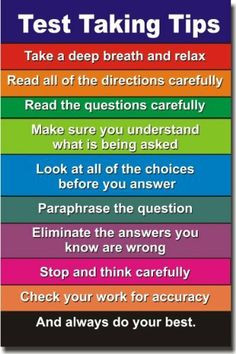 Motivational Quotes For Students Taking Tests Test taking tips - new