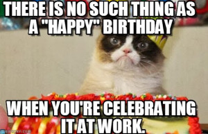 funny happy birthday grumpy cat