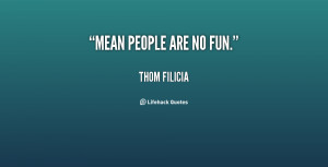 Mean People Are No Fun