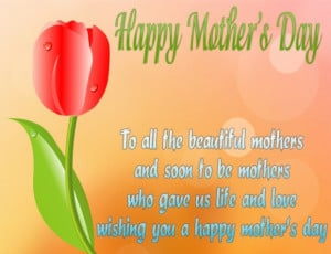 To all the beautiful mothers and soon to be mothers who gave us life ...