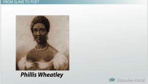 Phillis Wheatley: African Poetry in America