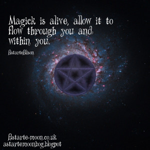 The number three is a very magickal one. The number three makes a ...