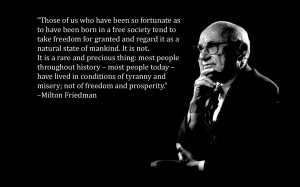 text quotes black background Milton Friedman wallpaper background