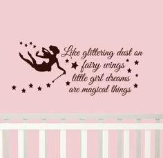 ... little girl dreams are magical things Girls decor. $25.00, via Etsy