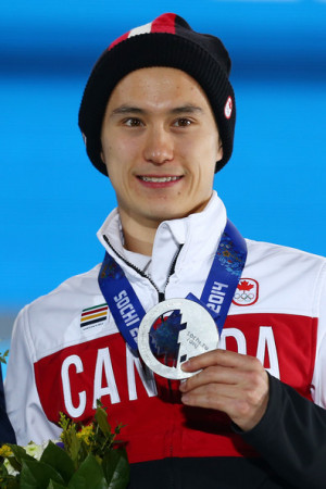 Patrick Chan Silver medalist Patrick Chan of Canada celebrates on the
