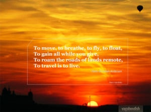 Travel Quote: Hans Christian Andersen on the Meaning of Travel