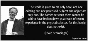 More Erwin Schrodinger Quotes