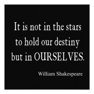 Not Stars Destiny But Ourselves Shakespeare Quote Invitation