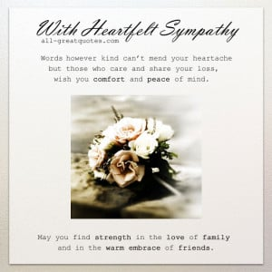 entry was posted in Sympathy Cards - All and tagged Heartfelt Sympathy ...