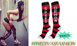 While in Glasgow, Nikki Bella posted a picture of herself wearing a ...