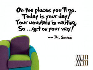 Dr. Seuss Oh the Places You'll Go - Vinyl Wall Decal Quote (four sizes ...